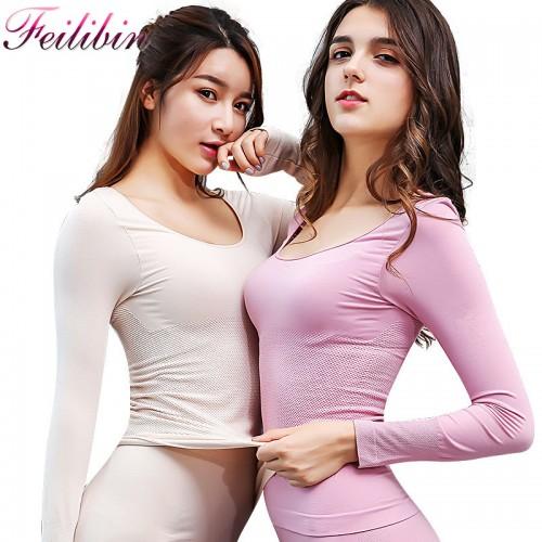 Women Long Johns Keep Warm Slimming Women Thermal Underwear Ultrathin Women Body Shaped