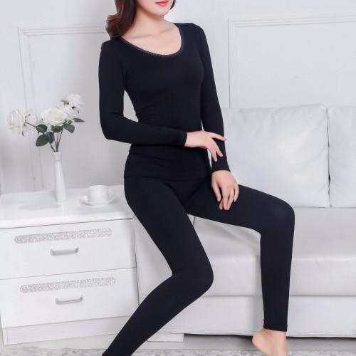 Women Thermal Long John Underwear Knit Warm Top Pants Slim Pajamas