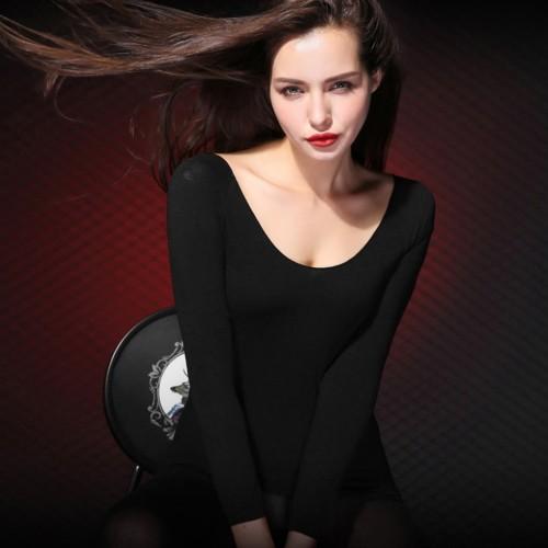 Women Thermal Underwear Sets 37 Degree Constant Temperature Long Johns Super Elastic Ultrathin Heat generating Tops