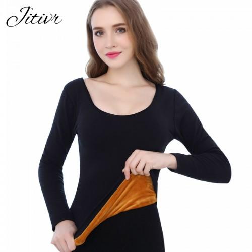 Womens Long Johns Winter Thermal Underwear For Women Thick Warm Slim Underwear Winter