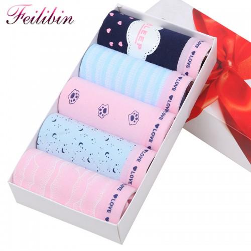 Women Panties Comfort Cotton Seamless Womens Print Briefs Breathable Women Lingerie