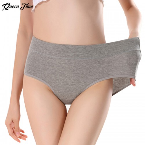 Women s briefs Comfortable and cool bamboo fiber panties pure color classic high waist underwear girl