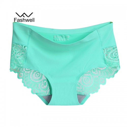 summer new Women s Panties ice silk Intimates seamless Lace Underwear plus size female Briefs
