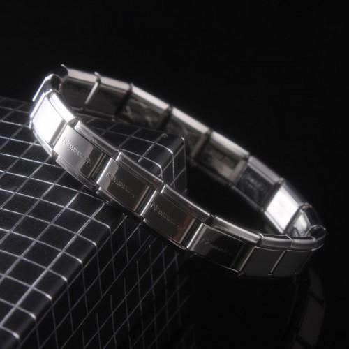 Trendy High Quality Elastic Lettering Stainless Steel Unisex Women Men Bracelet Bangle