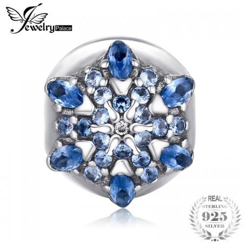 Sterling Silver Catch My Eye Blue Murano Glass Beads Charms Fit Bracelets.jfif