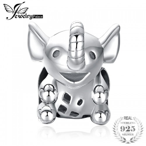 Sterling Silver Dumbo Big Ear Elephant Charm Beads Fit Bracelets For Women As Beautiful.jfif