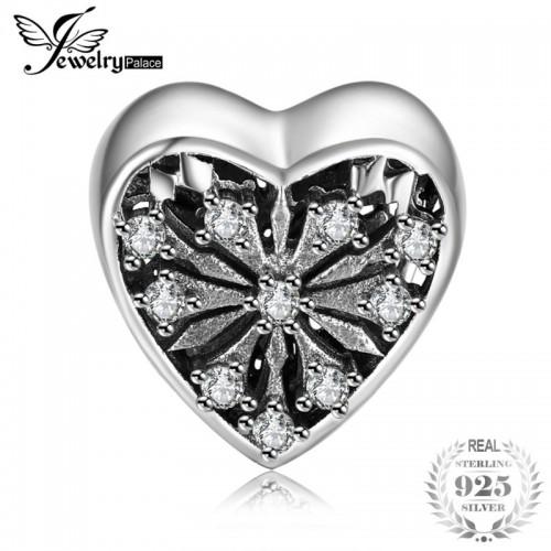 Sterling Silver Vintage Eagar Love Cubic Zirconia Beads Charms Fit Bracelets For Women.jfif