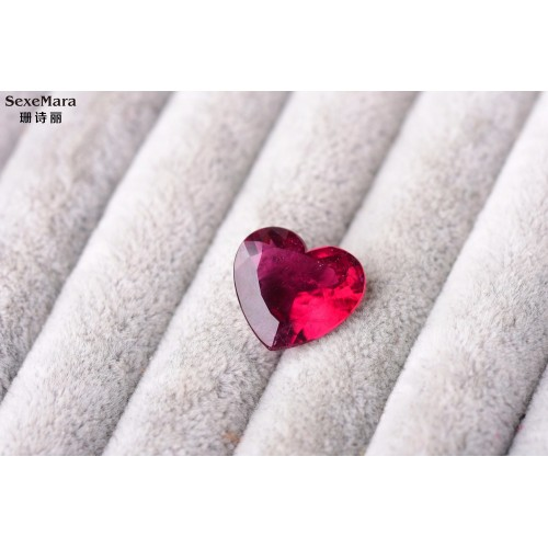 11 08ct rubellite Color Perfect scintillation ring surface heart big