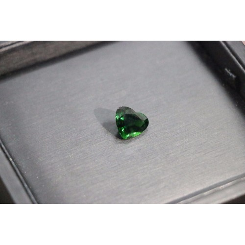 6 95ct Natural complete pure chromium tourmaline ring surface Color beauty 6 95 ct heart Perfect