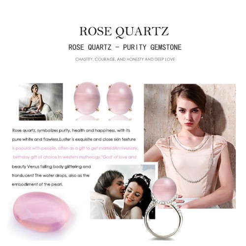 AAA Natural Gemstone Rose Quartz Pink Clear Stone Only Stone LMRQZ