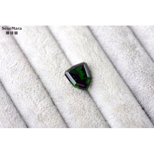Natural chromium tourmaline bare stone 6 19 carats Perfect scintillation ring surface