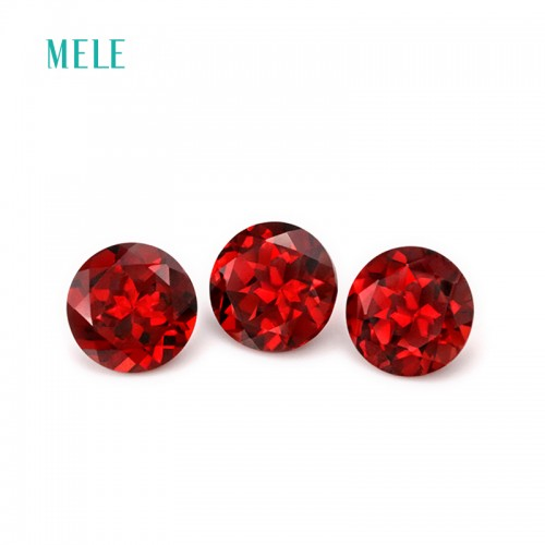 Natural garnet in round 8mm 8mm bright color and fire earring design anniversary gift for lover
