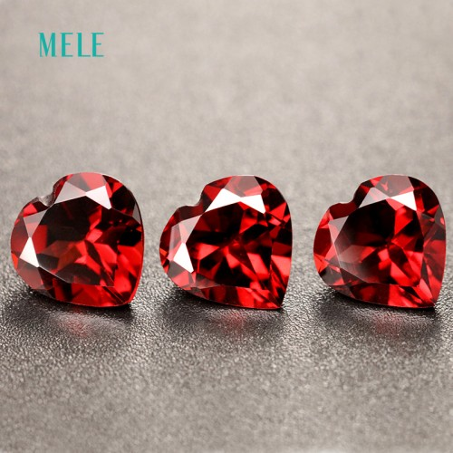 Natural red garnet in heart shape 8mm 8mm lovely shape design best gift for family members