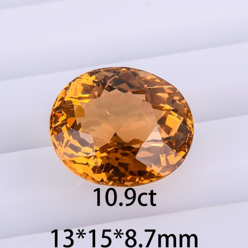Natural unoptimized yellow tourmaline particles bare stone stone ring can help you make jewelry