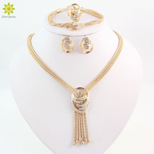 African Gold Plated Alloy Necklace Set