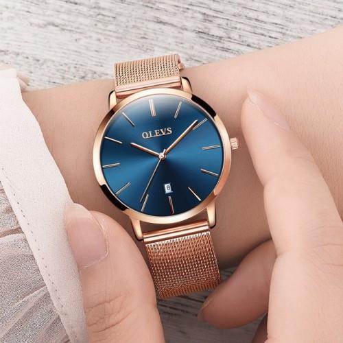 Genuine watch OLEVS Brand Luxury Women s Watches Waterproof Business Rose Gold Stainless Steel Ladies Quartz.jpg 640x640