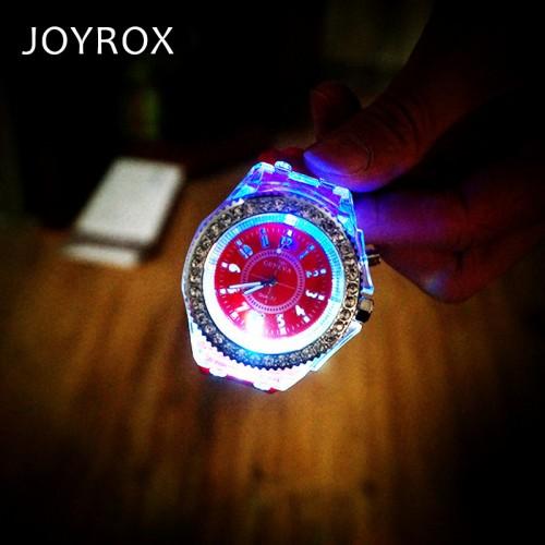 JOYROX Fashion LED Luminous Lights Electronic Watch 2017 Hot Women Quartz Wirstwatch Casual Girls Student Clock