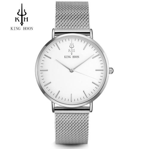 KING HOON Women Watches Top Luxury Brand Rose Gold Silver Leather Steel Quartz Wrist Watch relogio