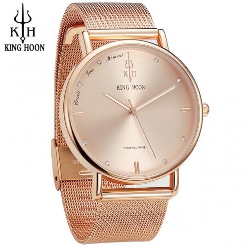 KING HOON Women Watches Ultra Thin Stainless Steel Quartz Wrist watch Bracelet Rhinestones watch montre Femme.jpg 640x640