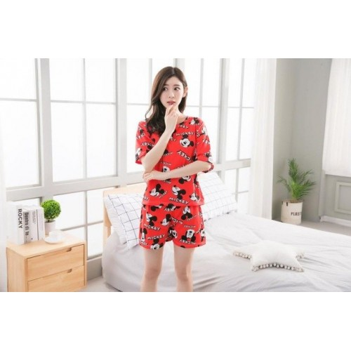 Women Pure Cotton 2 Piece Printed Short Set 14