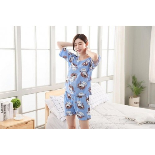 Women Pure Cotton 2 Piece Printed Short Set 15