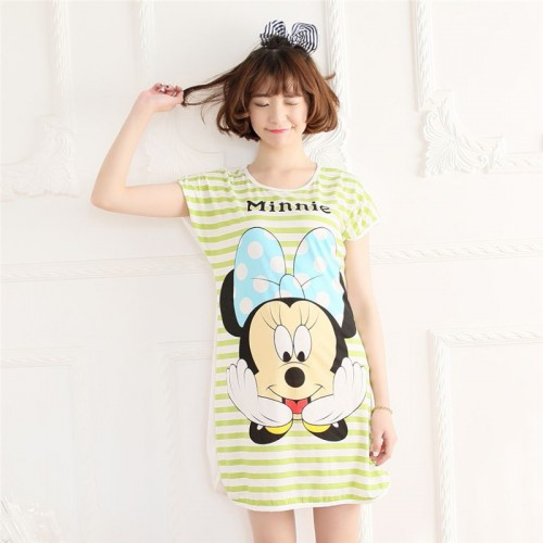 Printed Sleepwear Short Sleeve Long T Shirt (1)