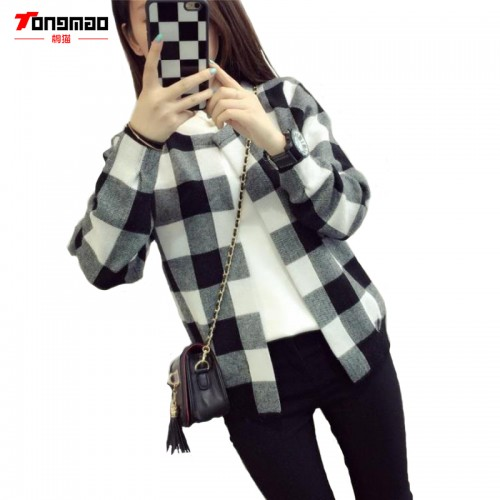 Autumn New Ladies Casual Fashion Wild Loose Sweater Coat Long sleeved Round Neck Knit Cardigan
