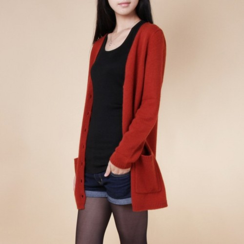 new cardigan women spring autumn long cardigan lady cashmere material loose sweater for female outerwear