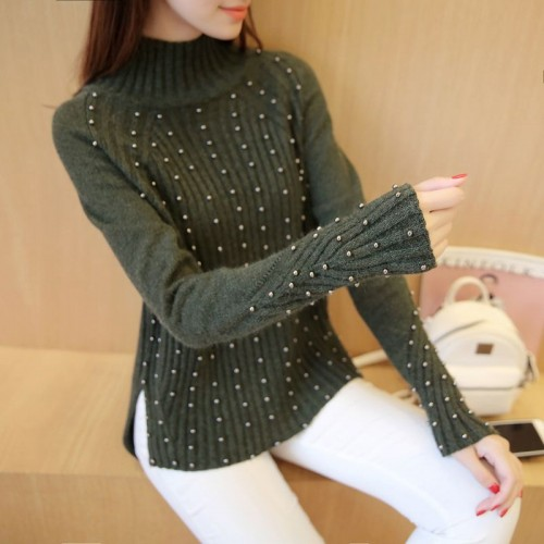 new autumn Korean Beaded sweater 68