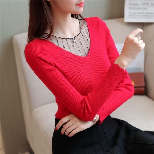 5868 shot Korean polo sweater shirt 33 net yarn