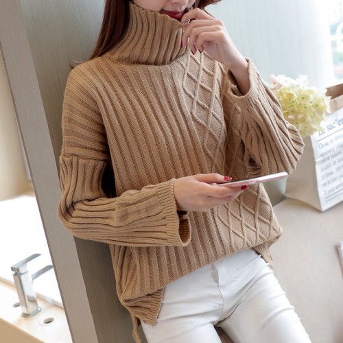 6022 new winter loose high necked sweater 53
