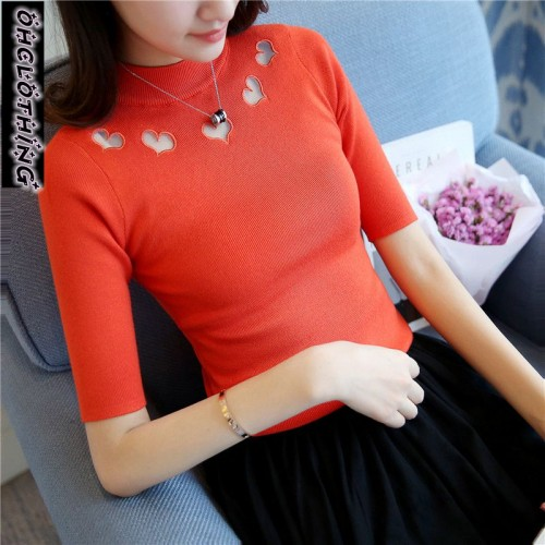 OHCLOTHING 4384 SWEATER real women s new style love collar collar shirt orange 31