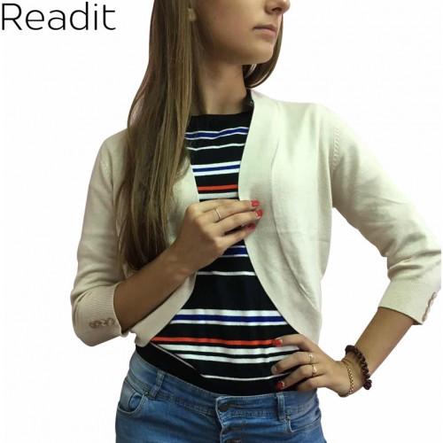 Readit Women Curve Hem Shrug Casual Open Cardigan Women Bolero Curved Short Shrug Cardigans Knitted Sweater