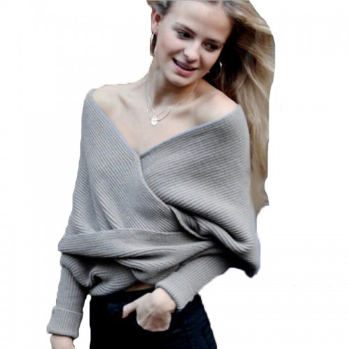Shawl shrugs for women Long Sleeve Wrap sweater Warm Batwing Knit Scarf Large lapel Strapless cross
