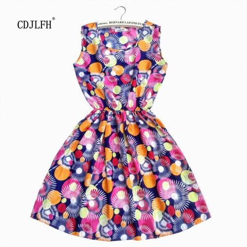 Sleeveless Printed Floral Slim Tank Mini Dress (25)
