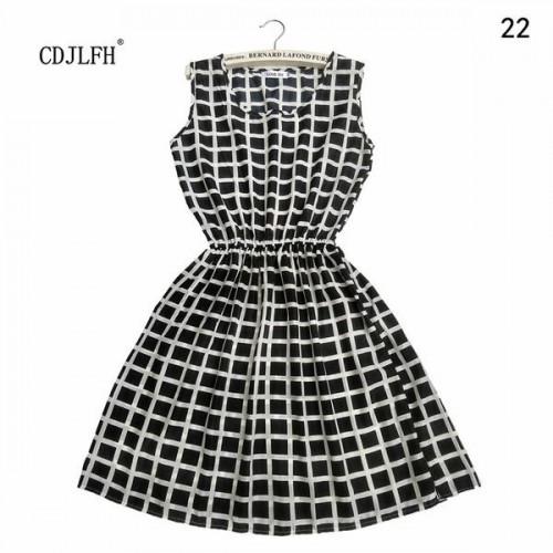 Sleeveless Printed Floral Slim Tank Mini Dress (28)