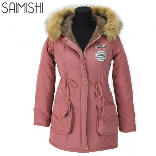 Autumn Parkas Winter Jacket Women Coats Female Outerwear Casual Long Down Cotton Wadded Lady Woman Fashion
