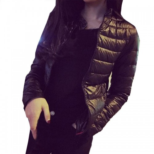 Female Down CoatWinter Women Europe and America Thin Short Cultivating Outwear Cotton Padded Warm