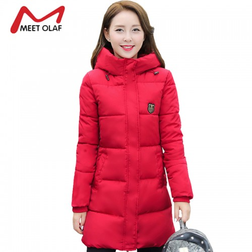 Winter Coat Women Hooded Cotton Padded Parkas Girls Student Wadded Warm Outwear Winter Jackets Female