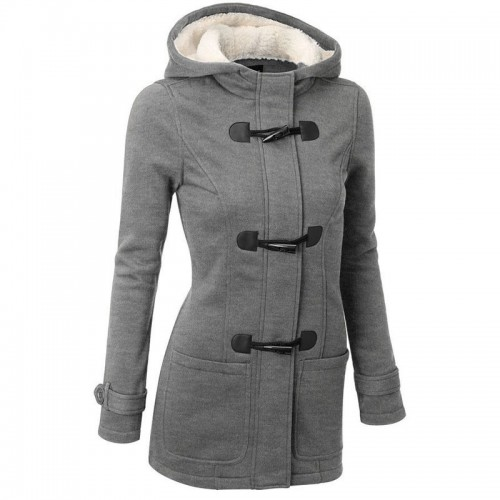 Women Trench Coat Spring Autumn Women s Overcoat Female Long Hooded Coat Zipper Horn Button