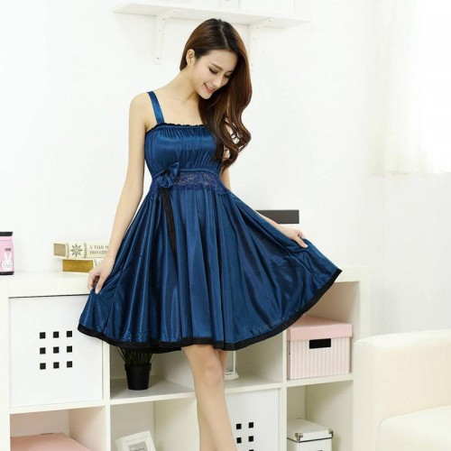 Women's Nightgown Sleepwear Lace Satin Summer Nightdress Silk Chemise