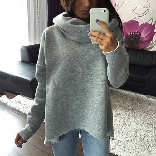 Autumn Women Winter Scarf Collar Long Sleeve Sweater Fashion Casual Style Sweater Christmas clothes