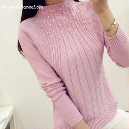 DisappeaRanceLove Brand Hot sale new autumn winter all match slim sweater women outerwear turtleneck female