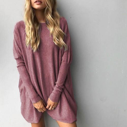 Sweter Topy KobietyJesie Zima Swetry Eleganckie Kobiety Z D ugim R kawem Plus Size