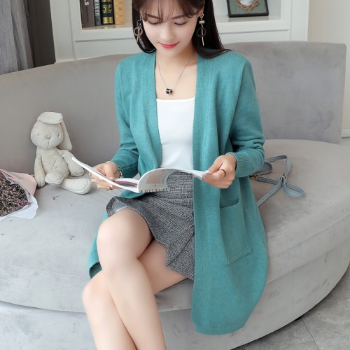 Korean New Women s sweater cardigan fall flat sweater