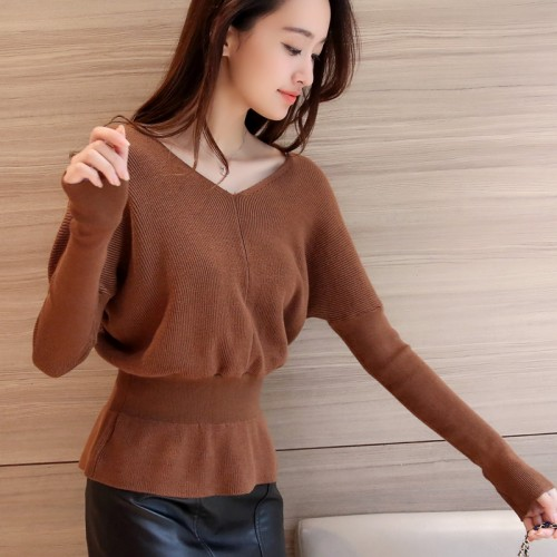 OHCLOTHING 3724 new winter dress waist V neck knit shirt 41