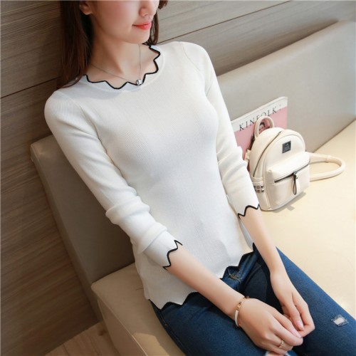 OHCLOTHING 6558 women s new sawtooth lace collar shirt 28