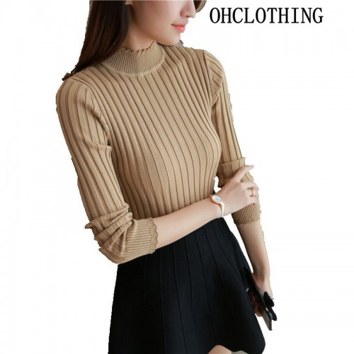 OHCLOTHING In the fall fashion half of south Korean sweater lady s long sleeve turtleneck