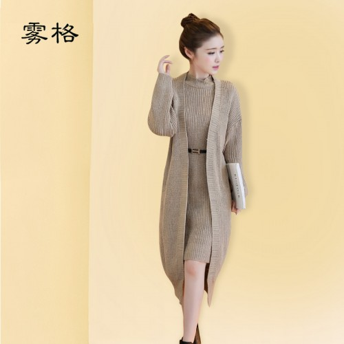 Women Sweaters Long Cardigans Two piece Suit Women s Poncho Cardigan Winter Warm Coat Pullover Open
