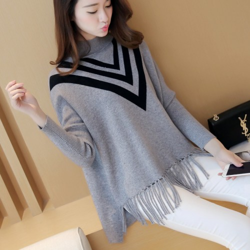 new fall fashion sweater fringed hem